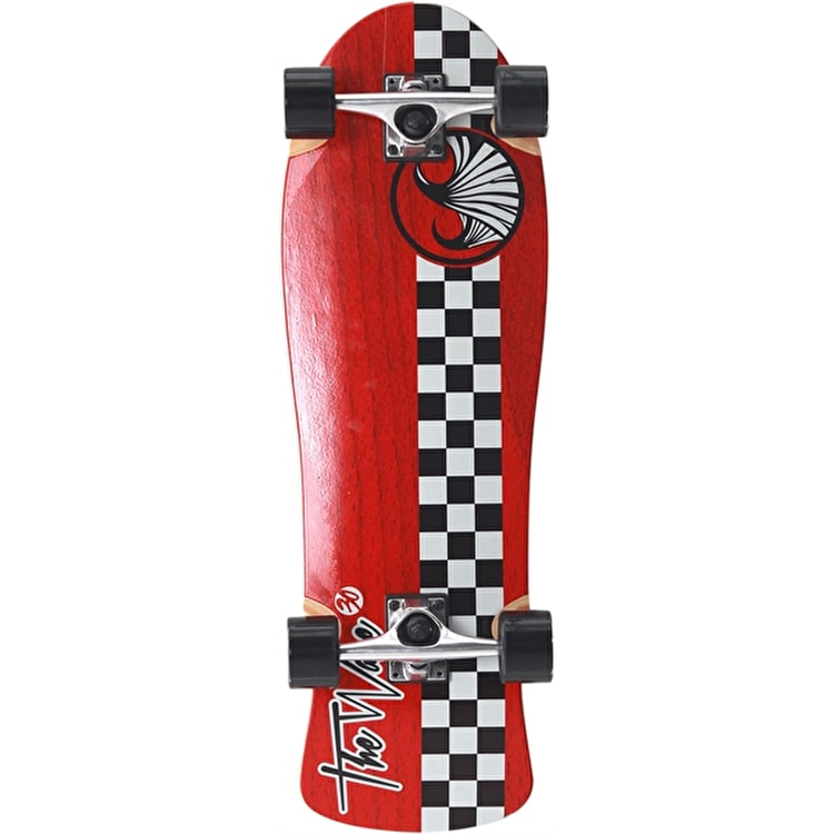 "WAVE40 Checker 30"" Complete Longboard - Red"