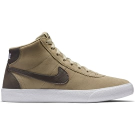 Nike SB Bruin Hi Womens High Top Skate Shoes - Khaki/Ridgerock-White