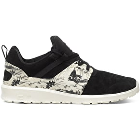 DC Heathrow SE Shoes - Black/White Print