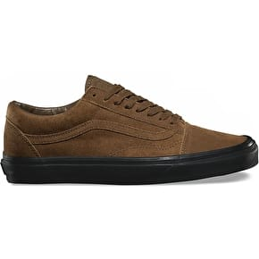 Vans Old Skool Skate Shoes - (Suede) Teak/Black