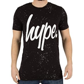 Hype AOP Speckle T-Shirt - Black/White