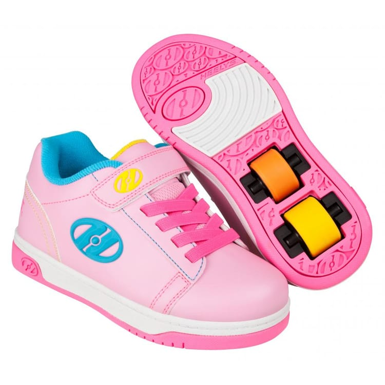 Heelys X2 Dual Up - Light Pink/Hot Pink/Neon Multi