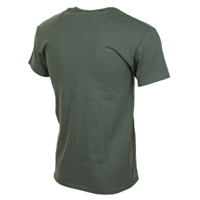 SkateHut Arch T-Shirt - Military Green