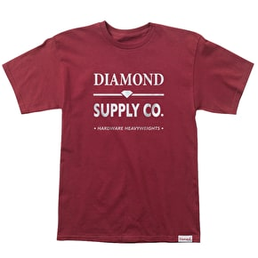 Diamond Hardware Lock T-Shirt - Burgundy