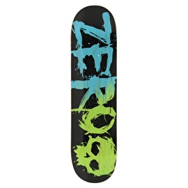Zero Blood Two Tone Skateboard Deck - Blue/Green Veneers 8.25