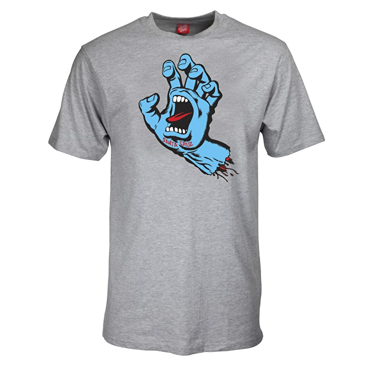 Santa Cruz Screaming Hand T-Shirt - Dark Heather