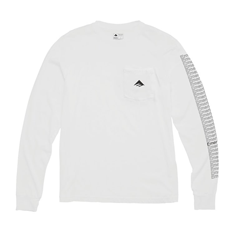 Emerica Team Pocket Long Sleeve T Shirt - White