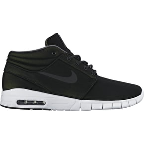 Nike SB Stefan Janoski Max Mid Shoes - Black/Black/Dark Green