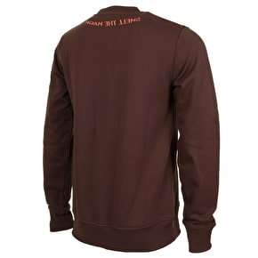 WeSC Blowing The Green Trumpet Crewneck - Dark Chestnut