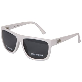 Carve Sanchez Polarized Sunglasses - White Acetate/Grey