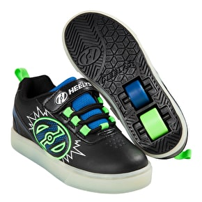 Heelys X2 POW Lighted - Black/Blue/Green