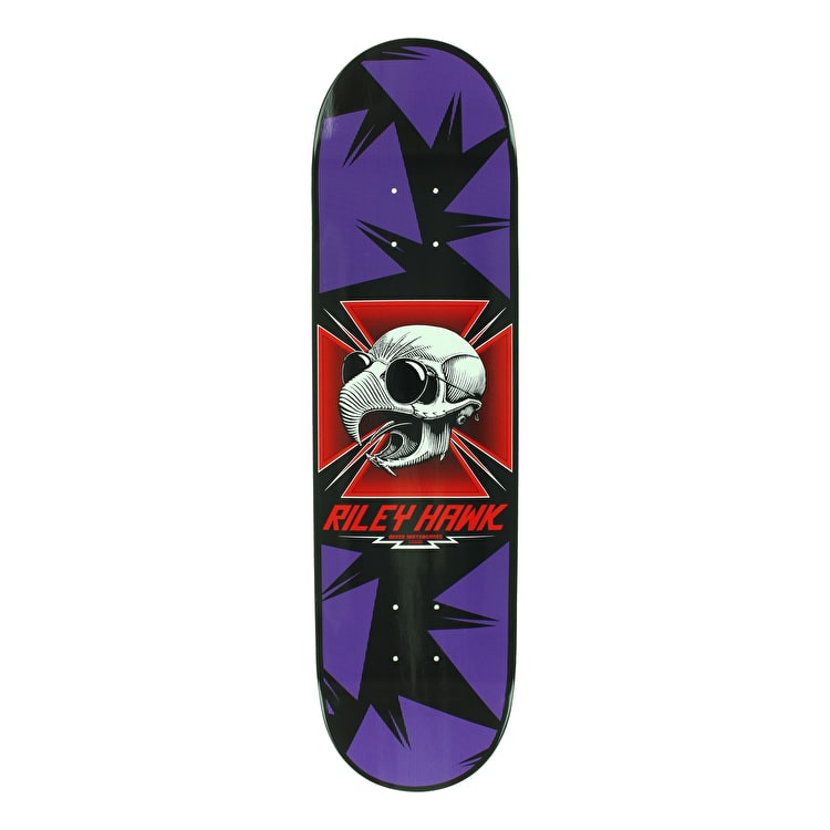 Baker Hawk Tribute Skateboard Deck - Purple 8.25""