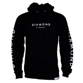 Diamond Stone Cut Hoodie - Black