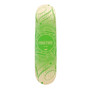 Fracture Skateboard Deck - DB15 Green 8.25
