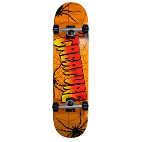 Creature Web Complete Skateboard - Orange 8
