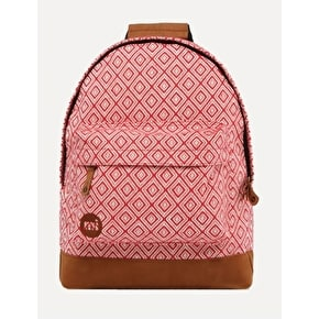 Mi-Pac Peruvian Diamond Backpack - Red