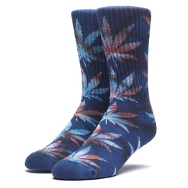Huf Tiedye Leaves Plantlife Socks - Navy