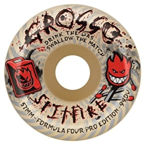 Spitfire Formula Four Grosso Arsonist 99a Skateboard Wheels - 55mm (Pack of 4)