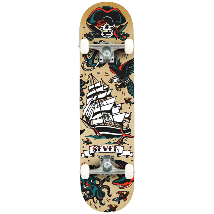 Seven Tattoo Flash Complete Skateboard - 7.8""