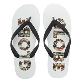 Globe Jungle Flip-Flops - White