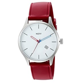 Neff Estaban PU Watch - White/Maroon