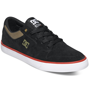 DC Nyjah Vulc Skate Shoes - Black/Olive
