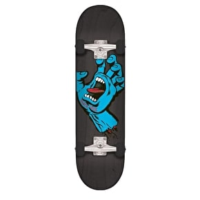 Santa Cruz Screaming Hand Complete Skateboard - Black 8.25