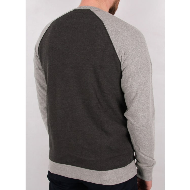 Vans Rutland II Crew Neck - Asphalt Heather/Concrete Heather