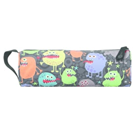 Mi-Pac Monsters Pencil Case - Black