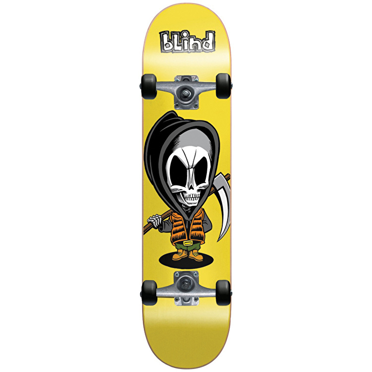 Blind Bone Thug Soft Wheel Complete Skateboard - Yellow 7.375""