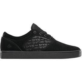 Emerica Figgy Dose X Baker Skate Shoes - Black/Black