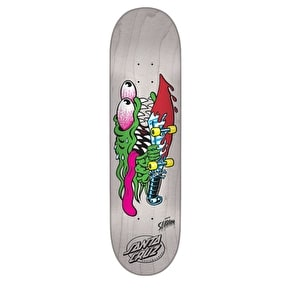 Santa Cruz Slasher Eight Team Skateboard Deck - White 8