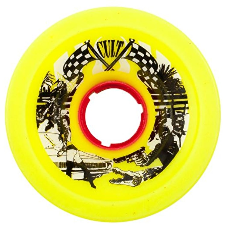 Cult Daredevil 72mm 84.5A Longboard Wheels - Yellow (Pack of 4)