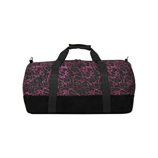 Mi-Pac Denim Squiggle Duffle Bag - Black/Pink