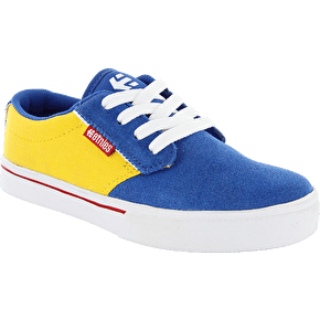Etnies Kids Jameson 2 Skate Shoes - Blue/White/Yellow