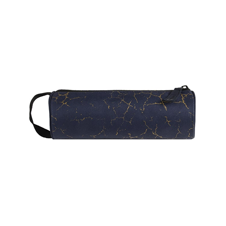 Mi-Pac Cracked Pencil Case - Navy/Gold