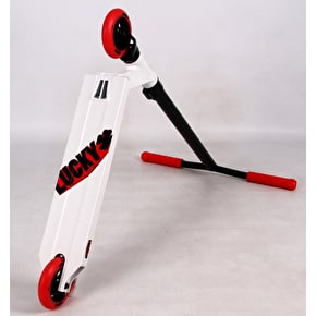 Lucky 2018 Crew Pro Complete Scooter - White/Red