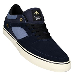 Emerica The HSU Low Vulc Skate Shoes - Navy/Blue