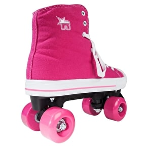 Rookie Canvas Quad Rollerskates- Pink