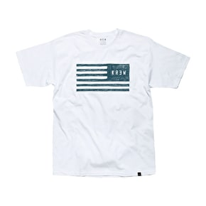 Kr3w Sketch Flag T-Shirt - White