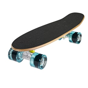 Ridge Mini Cruiser Skateboard - Number Two Dark Dye/Clear Blue 22