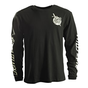 Santa Cruz Longsleeve T-Shirt - Dagger Dot Black
