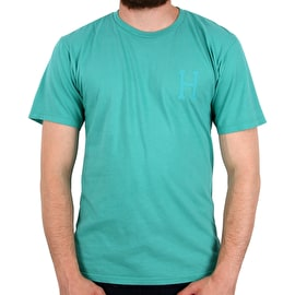 Huf Over-Dye Classic H T Shirt - Bright Aqua
