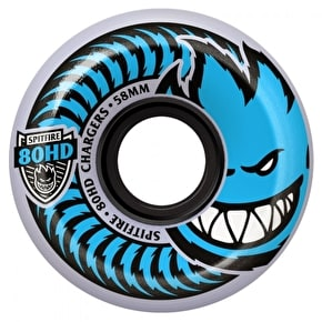 Spitfire Charger Conical Skateboard Wheels - Clear 54mm 80a