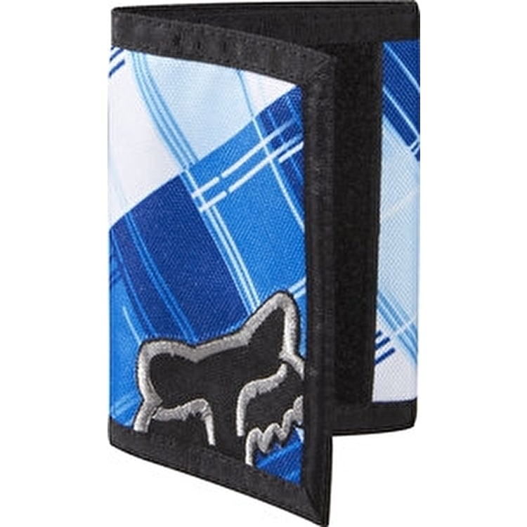 Fox AM Plaid Velcro Wallet Black