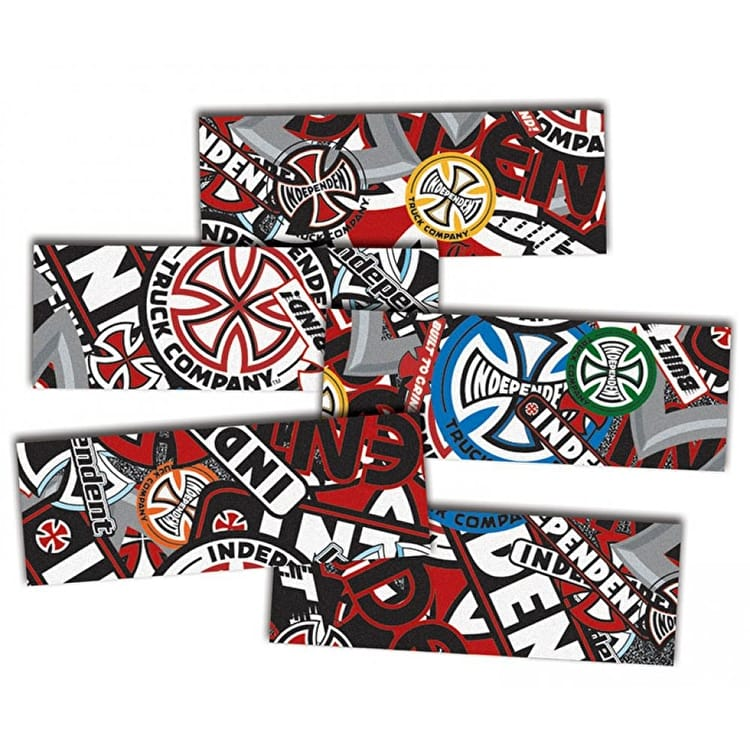 "MOB Skateboard Grip Strips - Independent Logo Collage 9"" (5 Pack)"