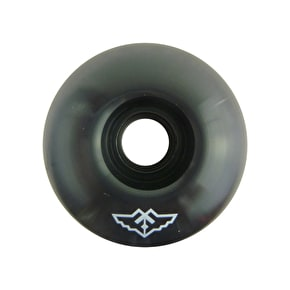 Fracture Small Logo Skateboard Wheels - Black 54mm
