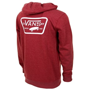 Vans Full Patched Hoodie - Red Dahlia Heather