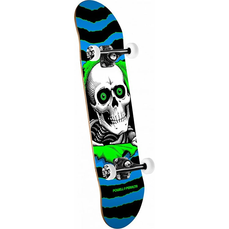 Powell Peralta One Off Ripper Complete Skateboard - Blue/Green 7.75""
