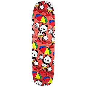 Enjoi Cartoon Panda Skateboard Deck - Red 8.375''